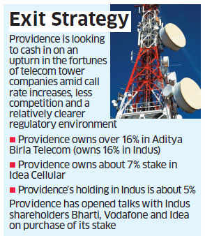 US PE firm Providence to offload stake in Idea Cellular; mulls to sell 5% indirect holding in Indus Towers