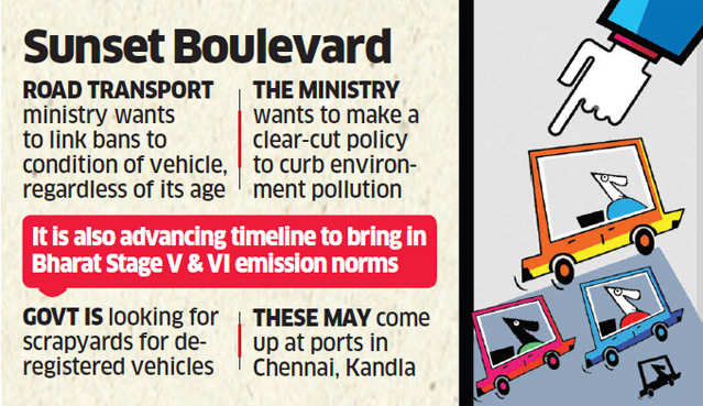 Vehicle sunset policy: Government working on norms to cancel registration of a vehicle found to be beyond repair