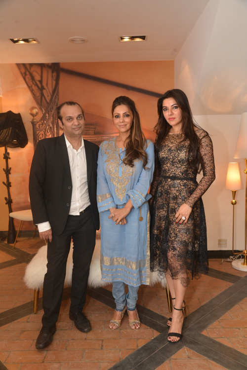 Raj Anand, Gauri Khan and Kaykasshan Patel's champagne high tea in Mumbai