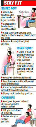 Don't sit at one place, just hop around your workplace!