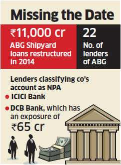 ABG Shipyard slips as banks classify its account as NPA, consider selling assets
