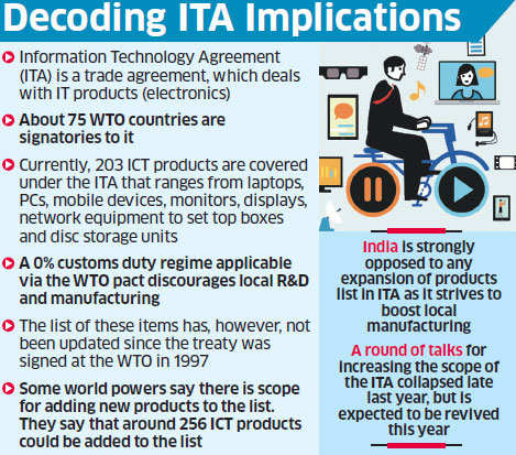 India opposes wto move to expand ita products list it will hurt india opposes wto move to expand ita products list it will hurt make in india platinumwayz
