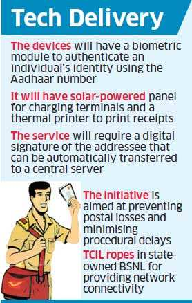 Network-connected handheld devices for postal delivery soon