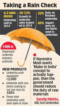 "3da930a83aa7b Umbrella makers prepare innovative, tech-based products to attract  customers. """