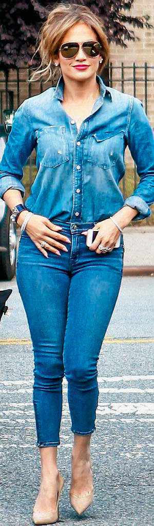 Pull off the denim-on-denim look like a star