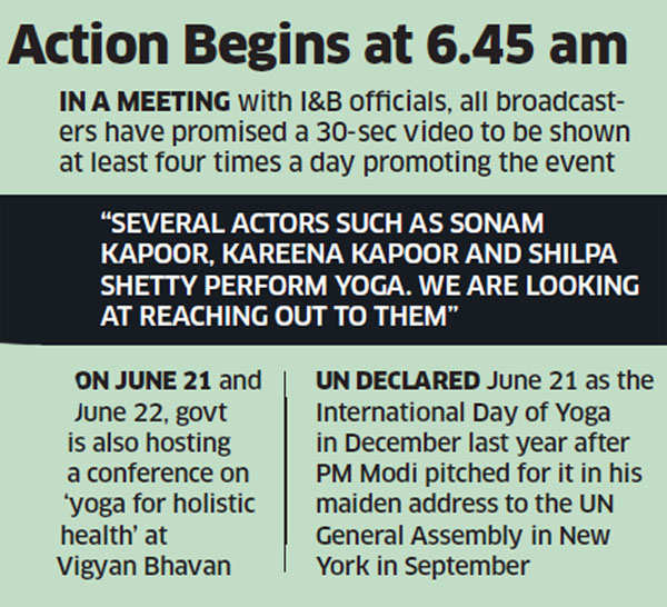 International Yoga Day on June 21 to observe 45,000 people perform 15 asanas for 35 minutes at Rajpath