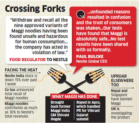 Nestle chief Paul Bulcke says Maggi safe for consumption, says unfounded confusion over product