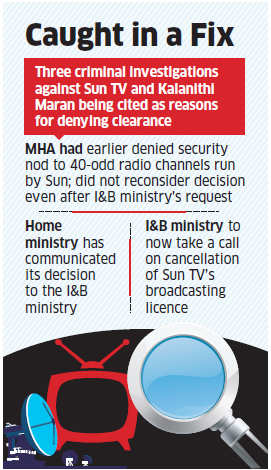 MHA denies security clearance to Kalanithi Maran-backed Sun TV Network, channels may go off-air