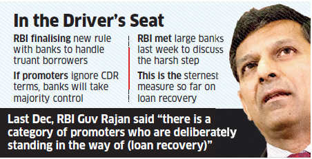 RBI mulling proposal to give lenders 51% equity control in company that fails to repay