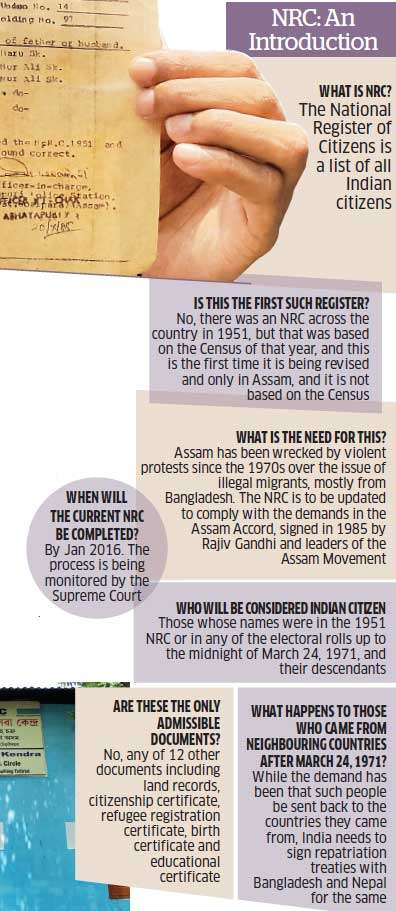 National Register Of Citizens In Assam Issue Of Illegal Foreigners