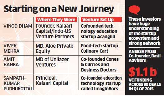 Entrepreneurial bug turns funders into founders; former VC & PE investors launched a dozen startups in past 12 months