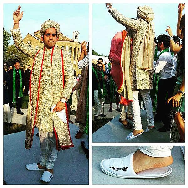It's a Venice wedding for Kimi Grover's son Ashwin & his bride Riya Khilnani
