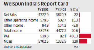 Indian textile's rare survivor Welspun India's shares trebled in last one year