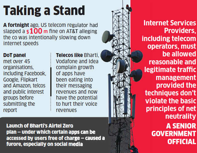 Net Neutrality: Department of Telecom pushes for disallowing