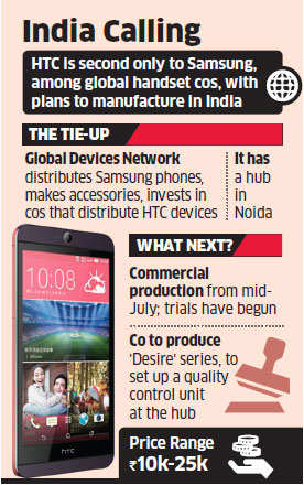 Make in India: After Samsung, HTC to manufacture mobile handsets in the country