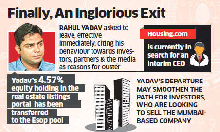 No more resignations! Housing.com says enough is enough, fires CEO Rahul Yadav