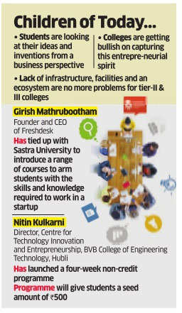 After IITs, second-rung engineering colleges picking up on startup