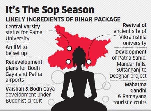 Bihar polls: Finance Minister Arun Jaitley leads 18-ministry effort to shower goodies on poll-bound state