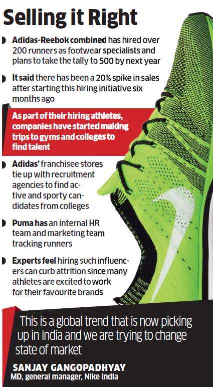 Nike, Puma, Reebok & Adidas hire sportsmen to push top end
