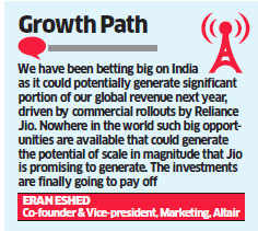 Israel's Altair Semiconductor bets big on Reliance Jio's 4G rollout; hopes to maximise global revenue