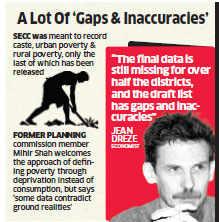 Socio Economic and Caste Census data unreliable or incomplete: Experts