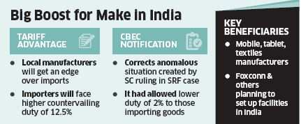 Boost for Make in India: Local manufacturers of mobile phones, laptops regain tariff advantage with CBEC notification