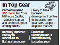 CarDekho scouts for acquisitions in South East Asian markets like Thailand, Indonesia