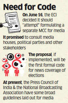 Election Commission plans poll conduct for media too