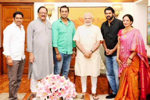 Image result for prabhas and modi