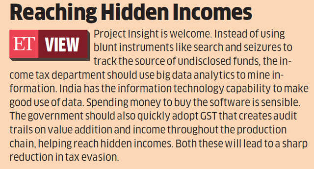 Black money: 'Project Insight' to help Finance Ministry nab tax evaders