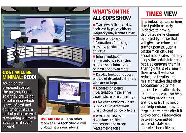 Bangalore cops as newsreaders? Police channel soon on social media