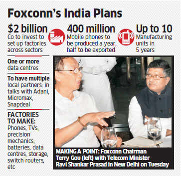 Foxconn vows $2 billion push to Make in India; plans to set up manufacturing plants over next 5 years