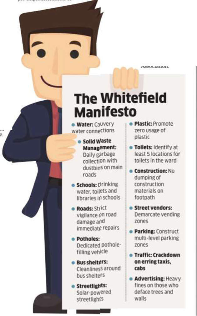 Bengaluru municipal elections:Whitefield's voters demand vigilant, active corporators