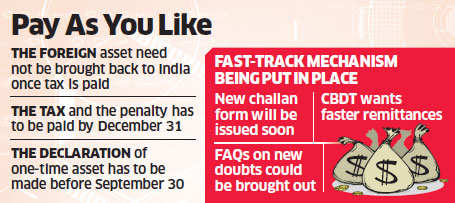 Black money: People wishing to come clean via compliance window can dip into overseas a/cs