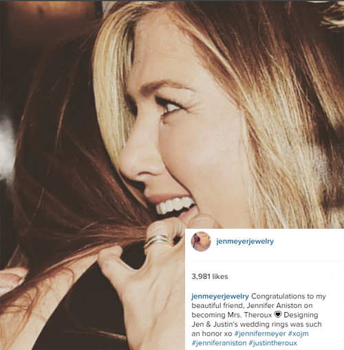it was an honour to design jennifer anistons wedding ring jennifer meyer - Jennifer Aniston Wedding Ring