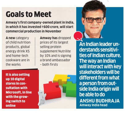 Amway's priority is to engage with the government constructively: Anshu Budhraja