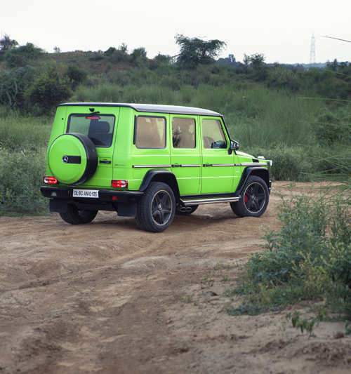 The Mercedes-AMG G63 with a green-as-envy paint job and a crazy-loud V8