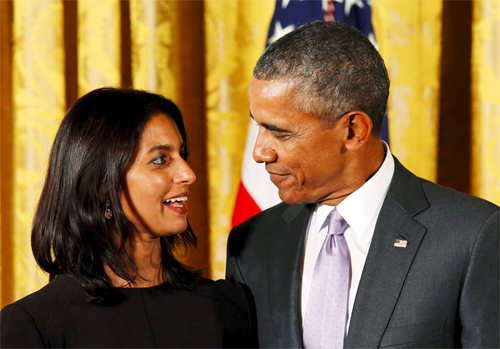 Obama presents National Humanities medal to Jhumpa Lahiri