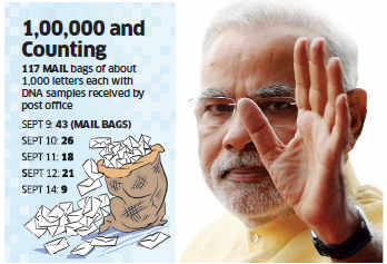 Mail bags with 1 lakh DNA samples from Bihar await signal from PM Narendra Modi's Office