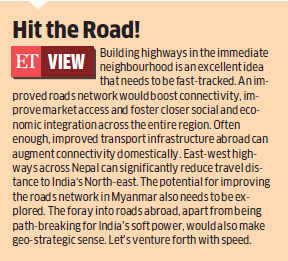NHAI global arm to build roads in Iran, Sri Lanka, Nepal and Bhutan