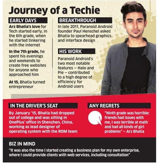 Meet Delhi teen Arz Bhatia, lead designer of OnePlus