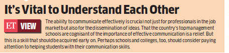 In the age of WhatsApp, SMS and Twitter, B-schools teach students to speak