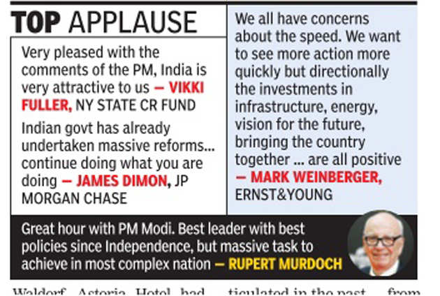 PM Narendra Modi's US tour: CEOs of 41 companies give suggestions and kudos