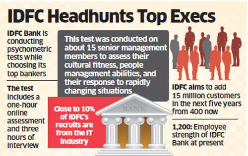 IDFC banks on psychometric tests for senior level hirings