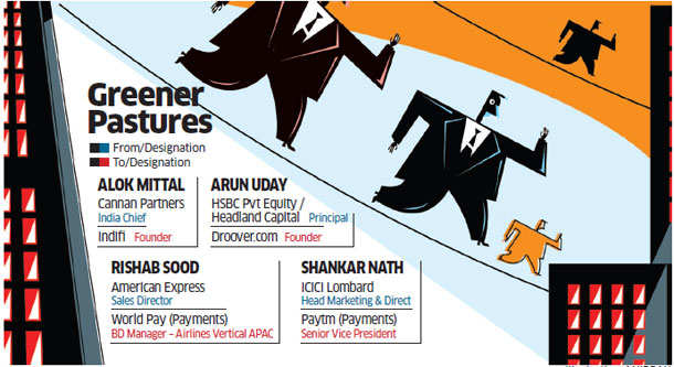 Finance, technology startups wooing top talent from banking sector