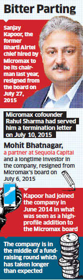 Former Micromax chairman Sanjay Kapoor threatens to drag company to court over exit