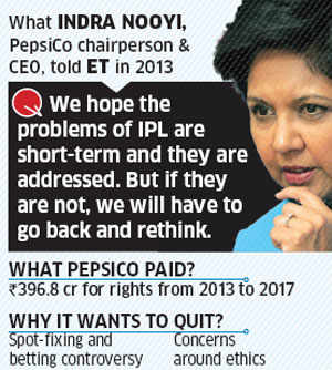 Without Pepsi, IPL may be without fizz; Value of title sponsorship may fall 30%