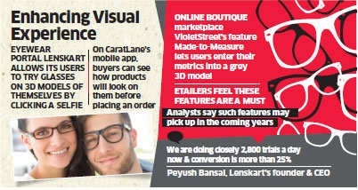 Now, online clothing platforms turn to virtual trial technology to woo customers and beat competition