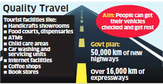 Drivers' facilities called highway villages may become mandatory in new highway contracts