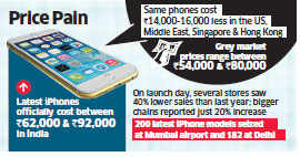 Grey market hubs in metros like Mumbai and New Delhi cash in on high prices of Apple's new iPhones